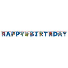 Tlapková patrola nápis šťastné narozeniny 180cm x 15cm