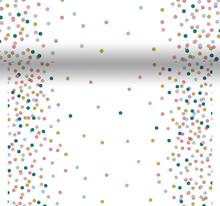 Šerpa na stůl s puntíky Dunicel® 0,4 m x 4,8 m