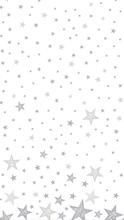 Ubrus bílý s hvězdami Dunicel® 138 cm x 220 cm Shining Star White