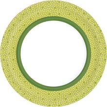 Papírové talíře Rice Green 10 ks, bio Ø 22 cm