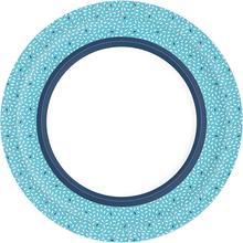 Papírové talíře Rice Blue 10 ks, bio Ø 22 cm