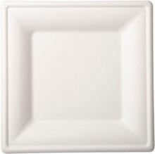 Talíře bílé bio 10 ks 26 cm x 26 cm