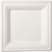 Talíře bílé bio 10 ks 16 cm x 16 cm