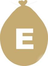 Balónek písmeno E zlaté