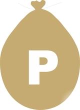 Balónek písmeno P zlaté