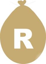 Balónek písmeno R zlaté