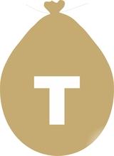 Balónek písmeno T zlaté