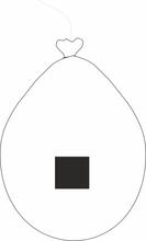 Balónek znak . bílý