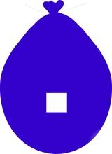 Balónek znak . modrý
