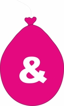 Balónek znak & růžový