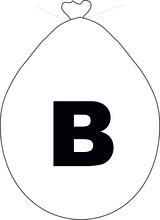 Balónek písmeno B bílé