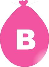 Balónek písmeno B růžové