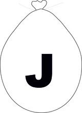 Balónek písmeno J bílé