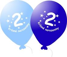 Narozeninové balónky modré s potiskem 2 - 5 ks