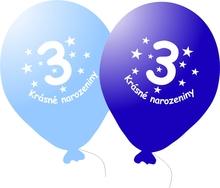 Narozeninové balónky modré s potiskem 3 - 5 ks