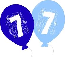 Balonky narozeniny 5ks s číslem 7 pro kluky