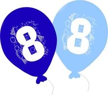 Balonky narozeniny 5ks s číslem 8 pro kluky