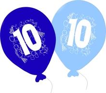 Balonky narozeniny 5ks s číslem 10 pro kluky