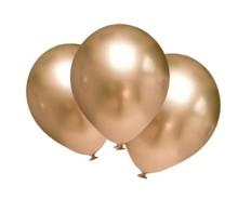 Balónky chromové zlaté 6 ks 30 cm