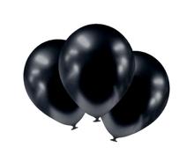 Balónky chromové černé grafitové 6 ks 30 cm