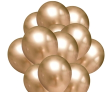 Balónky chromové zlaté 20 ks 30 cm