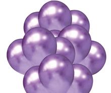 Balónky chromové fialové 20 ks 30 cm