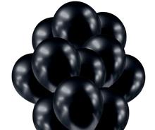 Balónky chromové černé grafitové 20 ks 30 cm
