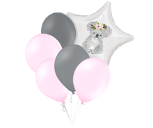 Set balónků a hvězda s potiskem koaly