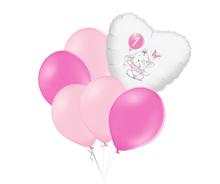 Set 1.narozeniny růžový slon srdce foliový balónek