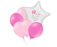 Set 1.narozeniny růžový slon hvězda foliový balónek