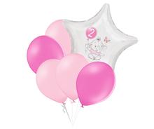Set 2.narozeniny růžový slon hvězda foliový balónek