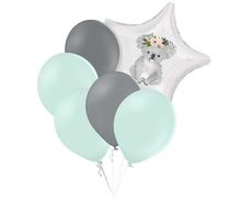 Set zelených balónků a hvězda s potiskem koaly