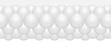 Balónková girlanda bílá 3 m