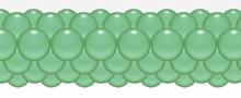 Balónková girlanda mint zelené 3 m