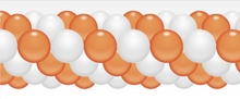 Balónková girlanda oranžovo-bílá 3 m