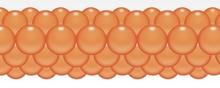 Balónková girlanda oranžová 3 m