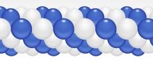 Balónková girlanda modro-bílá 3 m