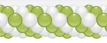 Balónková girlanda limetková zeleno-bílá 3 m