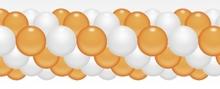 Balónková girlanda broskvovo-bílá 3 m