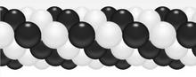 Balónková girlanda černo-bílá 3 m