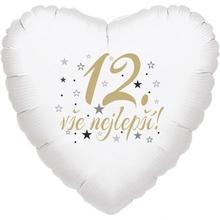 12.narozeniny balónek srdce