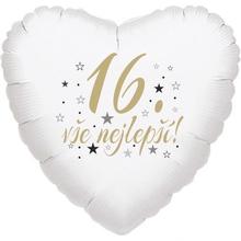 16. narozeniny balónek srdce