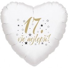 17. narozeniny balónek srdce
