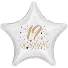 19. narozeniny balónek hvězda