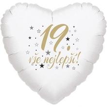 19. narozeniny balónek srdce