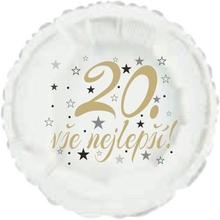 20. narozeniny balónek kruh