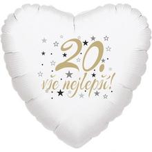 20. narozeniny balónek srdce