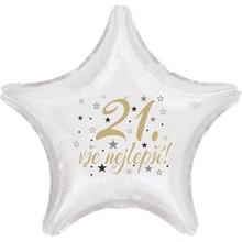 21. narozeniny balónek hvězda