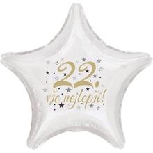 22. narozeniny balónek hvězda