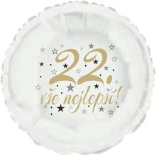 22. narozeniny balónek kruh